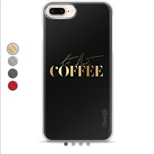 """EUC Caseitfy """"But First Coffee"""" iPhone 7/8 Plus"""
